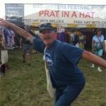 My friends husband Alan out side Prat in a hat , apt