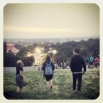 Son, Daughter, Dad leaving the campervan field