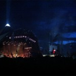 Arcade fire begin their set on Friday night