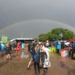 Mud, sun and a rainbow