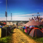 Tents and path down to john peel. Pre-mud