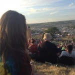 peaceful Tuesday evening watching the sunset on the hill