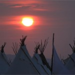 Sunset Over The Tipi's