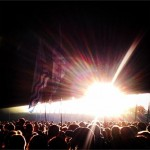 Sun Rays On The Crowd