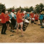 Samba Gales. I'm playing surdo, far left.