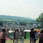 View Of Pyramid Stage And Tents.