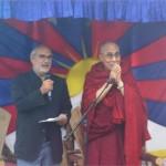 His Holiness the Dalai Lama & Alan Yentob in the Kings Field
