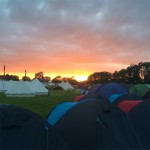 First sunset of the festival