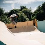 Skateboarder at Greenpeace