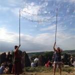 Bubbles at the stone circle