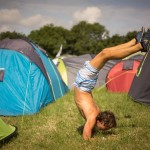 Yoga in the tents
