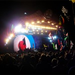 The Who nearing the end of their set on Pyramid Stage