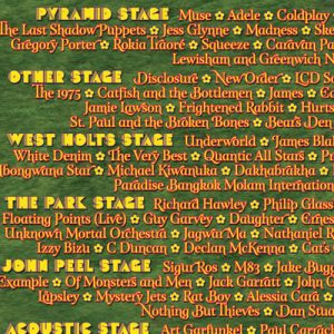 Full 2016 line-up revealed, with days and set times