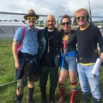 Only at Glastonbury: bumped into Chris Evans, met Tim Booth live on Radio 2, then my boyfriend proposed!!