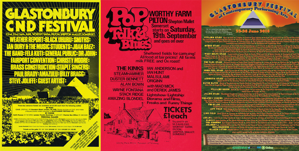 Line-up posters and new mug in our shop | Glastonbury Festival