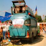 Mad Bedford / VW bus in green fields