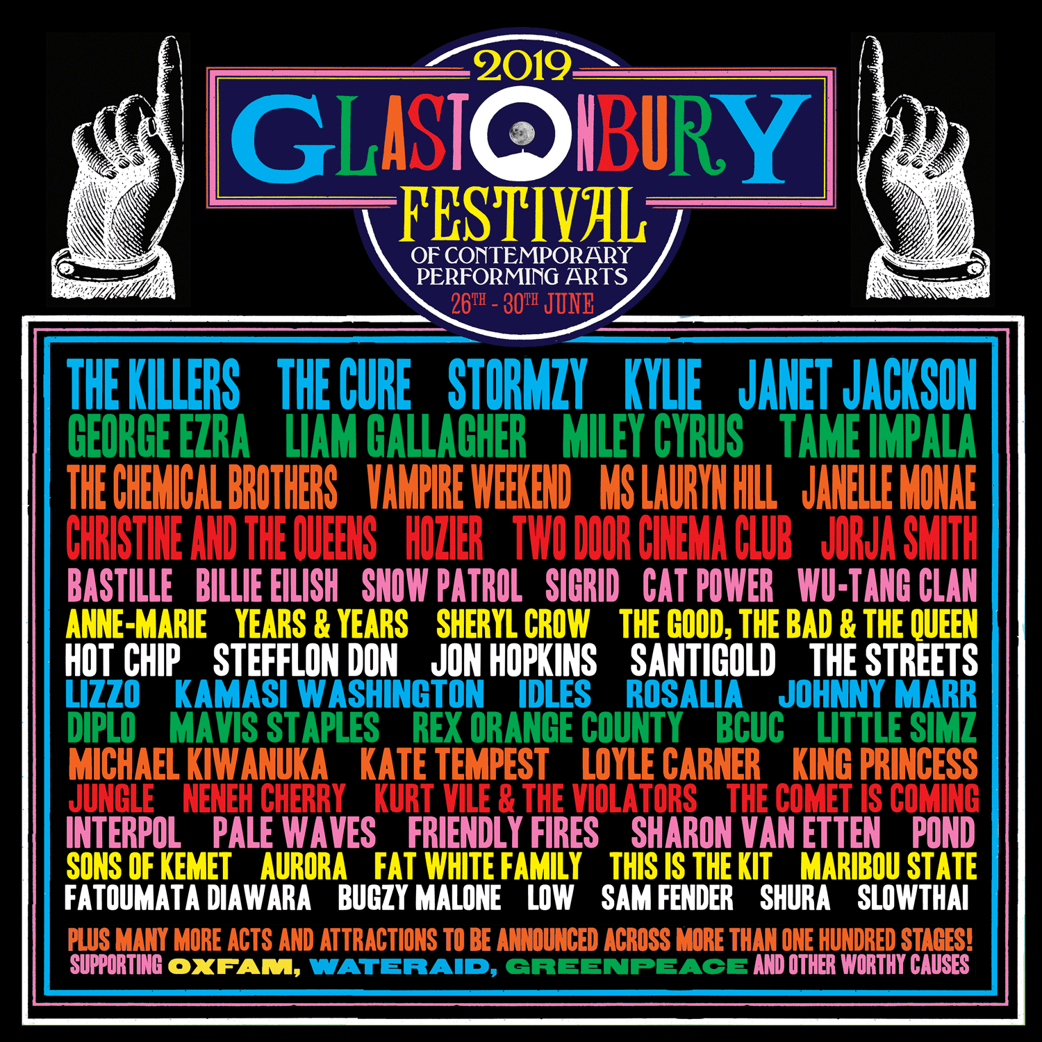 Image result for glastonbury 2019 lineup