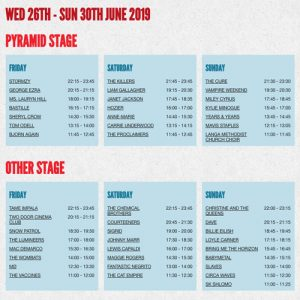 The full Glastonbury 2019 line-up is here – with set times