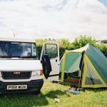 Dream set up, white van and tent! Classy