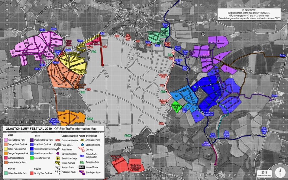 By car | Glastonbury Festival Map Directions By Car on car road map, car map parts, car world bugatti veyron, car services, car history, car trip, car driving map,