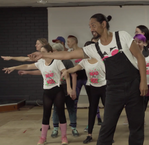 Unleash your inner Kylie with Theatre & Circus's flashmob dance!