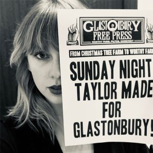 Taylor Swift to headline Sunday night at Glastonbury 2020